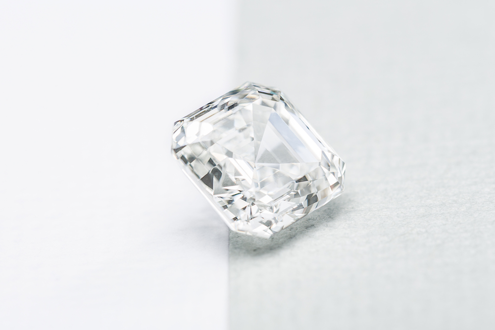 Large diamond, white background