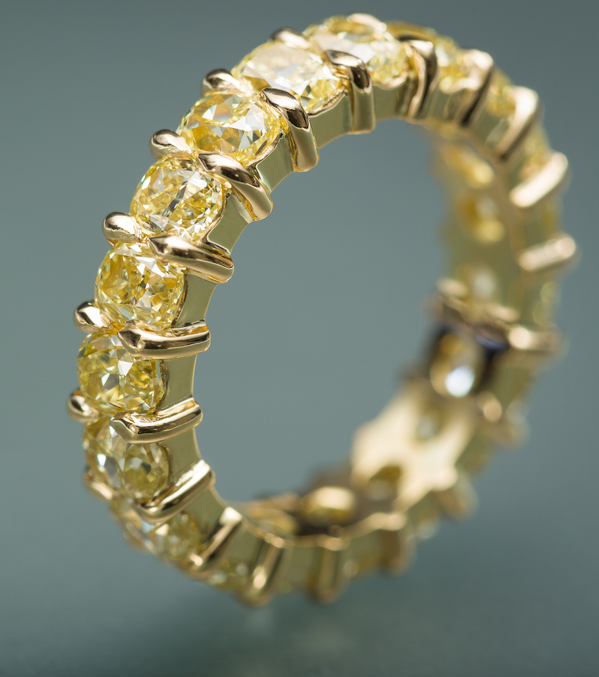 Fancy Yellow Diamond Eternity Ring