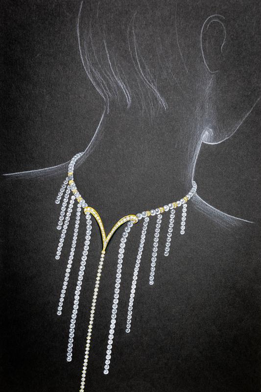 back necklace design