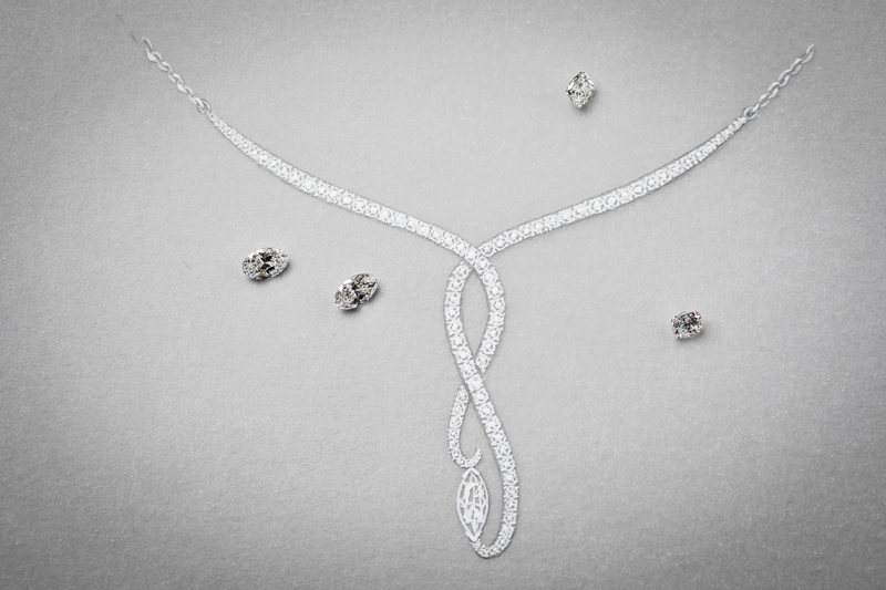 bespoke diamond necklace design